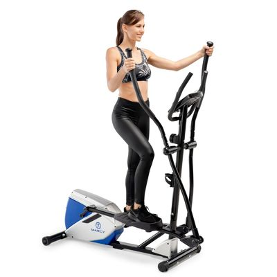 Marcy Magnetic Elliptical Trainer | ME-1017E Compact Cardio Machine w/ Pulse