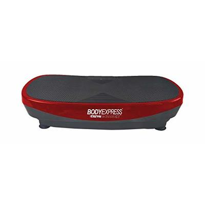 BODY EXPRESS with Curve Technology Vibration Platform by Tony Little – 5 Pre-Programmed Workouts – Equipped with Bluetooth and Built-in Sound System – Remote and Two 1-Pound Hand Weights Included