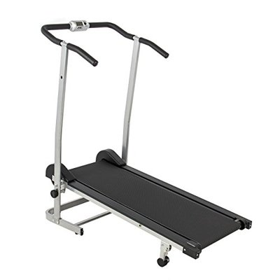 Manual Treadmill w/ 2 Level Incline & Twin Flywheels Fitness Exercise Home Gym
