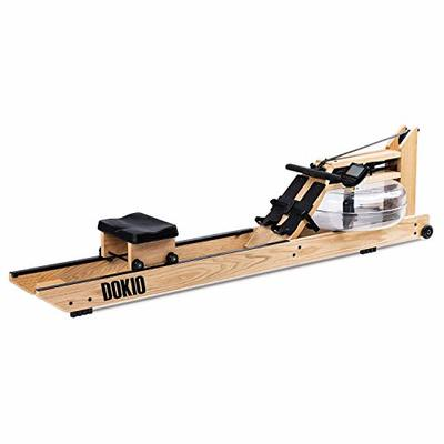 Water Rowing Machine Home Wood Gyms Training Equipment Sports Exercise Machine Fitness Indoor Water Rower with Monitor ?DOKIO Brand?