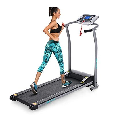 Profun Folding Treadmill Electric Motorized Running Walking Jogging Machine for Home Gym Exercise Fitness(Sliver)