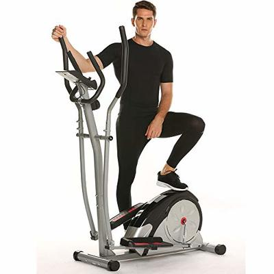 Aceshin Elliptical Machine Trainer Compact Life Fitness Exercise Equipment for Home Workout Offic Gym (Dark Gray)