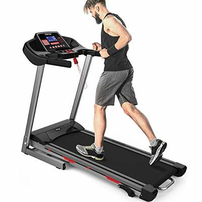 Merax Heavy Duty Treadmill with Wide Shock-Absorbing Running Board, Large LCD Panel and Shortcut Buttons (Black)