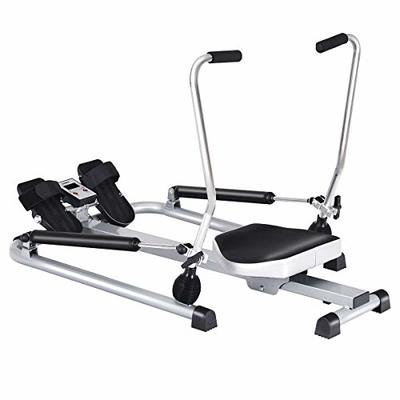simplyUSAhello Exercise Adjustable Double Hydraulic Resistance Rowing Machine