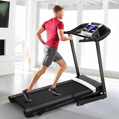 "Sinoluck Folding Treadmill for Home, Automatic Incline Treadmill,Easy Assembly LED Motorized Fitness Running Machine,Maxium 220Lbs,17"" Wide Tread Belt"