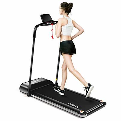 GYMAX Electric Folding Treadmill, Ultra-Thin 450W Exercise Running Machine Compact Fitness Running & Walking