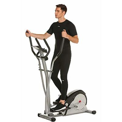 Bestlucky Elliptical Machine Elliptical Training Machines Magnetic Smooth Quiet Driven Elliptical Exercise Machine for Home Use (Gray)