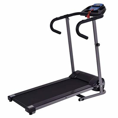 GYMAX 1100W Electric Folding Fitness Exercise Treadmill Jogging Incline Running Machine Home Gym (Black)