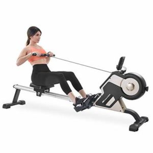 Merax Rowing Machine Magenetic Rower Machine with 8-Adjustable Level, LCD Monitor 340 LBS Max Weight Cardio Fitness Equipment for Home Use