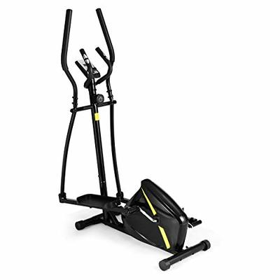 Goplus Elliptical Machine Trainer, Cross Trainer Magnetic Exercise Machine for Home with 8 Level Resistance and Digital Monitor and Extra-Large Pedal (Black)
