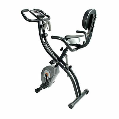 ATIVAFIT Stationary Exercise Bike Magnetic Upright Bike Monitor with Phone Holder, High Backrest, Adjustable Resistance Band for Ar