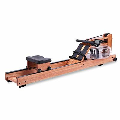 BATTIFE Water Rowing Machine Red Walnut Wood with Monitor Home Gyms Fitness Indoor Use