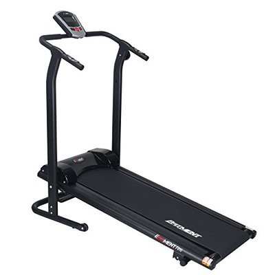 EFITMENT Adjustable Incline Magnetic Manual Treadmill w/Pulse Monitor (Regular)