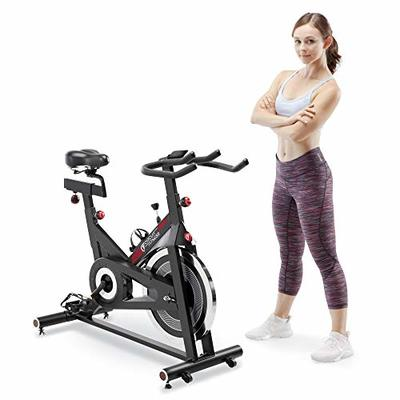 CIRCUIT FITNESS Circuit Fitness Club 30 lbs. Flywheel Revolution Cycle for Cardio Workout – Adjustable Manual Resistance Mechanism – AMZ-948BK