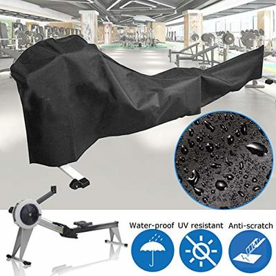 dDanke Black Rowing Machine Cover Sports Equipment Dust Covers for Outside Weather Rain & Sunshine Resistance 112.2x20x35 Inch
