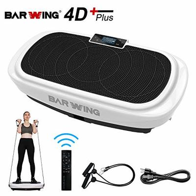 BARWING 4D Vibration Plate Exercise Machine- Triple Motor Vibration Platform Machine for Home Workouts with Resistance Bands and Remote Control