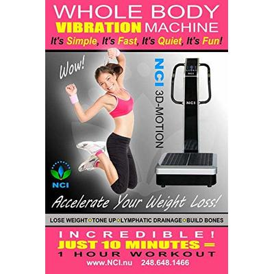 NCI Whole Body Vibration Machine – 3D-Motion Commercial (2HP, 440 lbs), Dual Motor, Large Vibrating Platform, USB Programmable