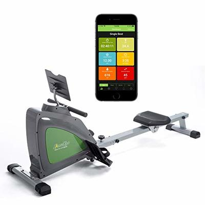 ShareVgo Smart Rower Folding Magnetic Rowing Machine with Free APP for Indoor Full Body Workout Log and Performance Track, Bluetooth LCD Monitor & Tablet Holder, Max Weight 300 lbs Ergometer – SRM1000