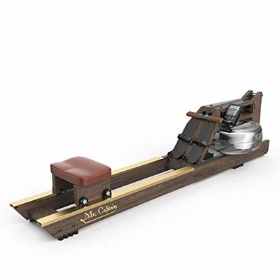 Mr Captain Rowing Machine for Home Use,Water Resistance Vintage Oak Rower with Bluetooth Monitor