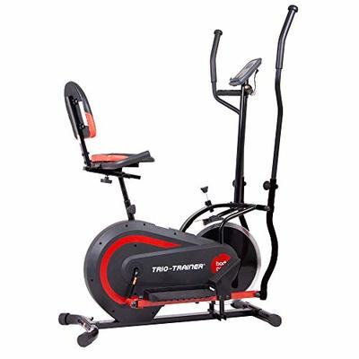 Body Power 3-in-1 Exercise Machine, Trio Trainer, Elliptical and Upright/Recumbent Bike