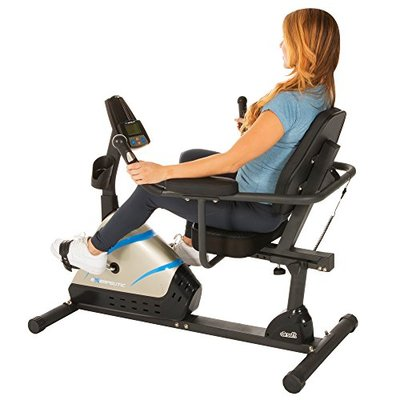 """Exerpeutic 2000 High Capacity Programmable Magnetic Recumbent Bike w/ """"Air Soft'"""