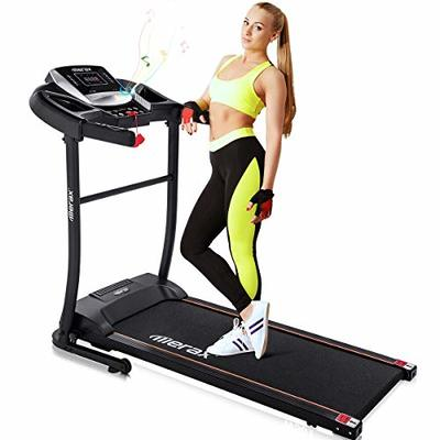 Merax Easy Assembly Folding Treadmill Motorized Running Jogging Machine (Gray Black)