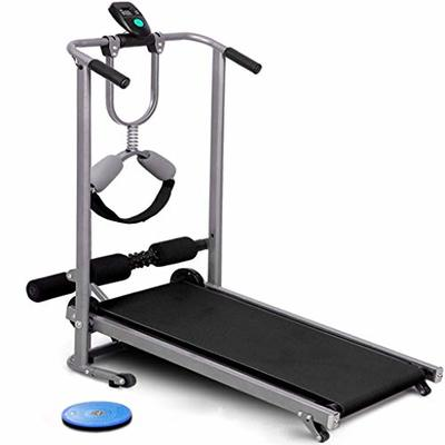 INiubi Easy Assembly Fitness Running Jogging Machine Running Supine, Twisting, Massage Four-in-one Portable Space Saving Mechanical Treadmill