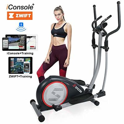 SNODE Elliptical Machine – Electric Elliptical Equipment with Free iConsole+ App Via Bluetooth, Cardio Training Machine with 16 Resistance Levels, Heart Rate Grips, LCD Monitor