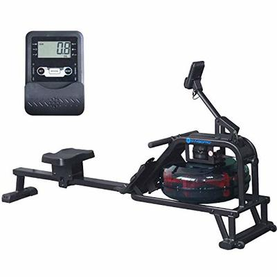 GYMBOPRO Fitness Water Rowing Machine Water Rower with Water Resistance for Home Exercise