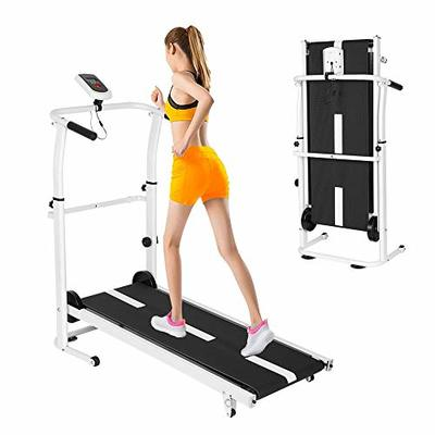 Wotryit Manual Walking Treadmill with LCD Display, Compact Folding, Manual Running Jogging Walking Machine for Health/Fitness/Exercise