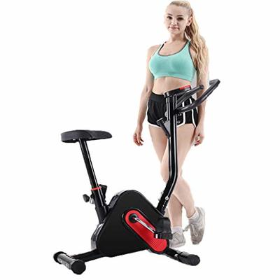 Exercise Bike, Indoor Cycling Bicycle, Stationary Bikes, Home Bicycle, Cardio Workout Machine Upright Bike, Ultra-quiet Exercise Bike (Black)