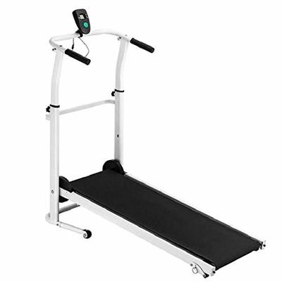 INiubi LED Display Screen Lightweight Durable Folding Manual Treadmill Working Machine Cardio Fitness Exercise Incline Home Save Space