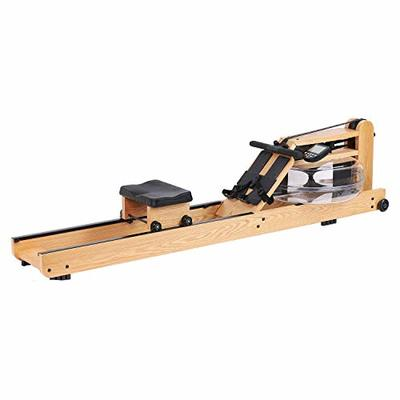 Eriding Rowing Machine Wood Water Rower with Monitor