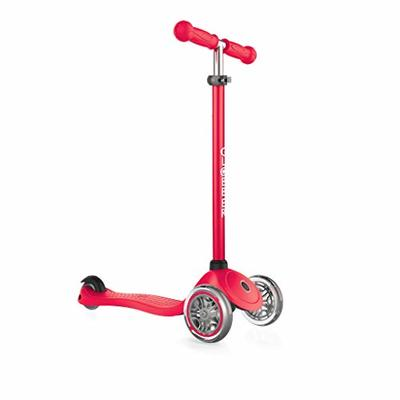 Globber Primo 3-Wheel Adjustable Kids Kick Scooter with Comfort Grips, Red(Used)