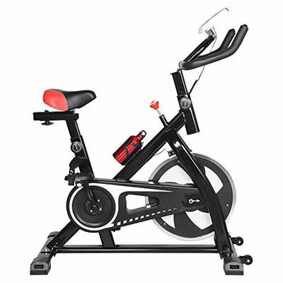 Caps Indoor Bicycle Stationary Bike Belt Drive Indoor Cycling Exercise Bike Ultra-quiet Exercise Bike Home Bicycle Fitness Equipment (Black, A)