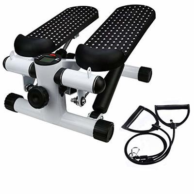 Fitness Stair Stepper, Yirise Fitness Mini Stepper with Resistance Bands Household Hydraulic Mute Stepper Multi-Function Pedal Indoor Sports Stepper Legs(Shipped From U.S,7-10 Days Fast Arrival)