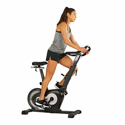 EFITMENT Rear Drive Magnetic Indoor Exercise Bike with LCD Monitor, 242 LB Max Weight and Tablet Holder- B015
