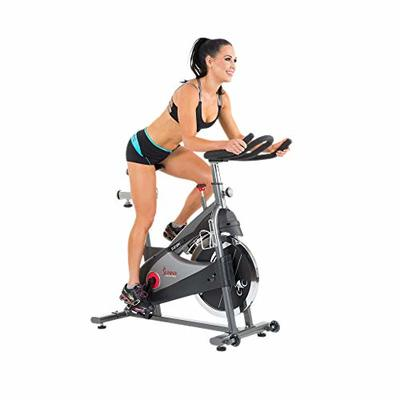 Sunny Health & Fitness SF-B1509C Chain Drive Premium Indoor Cycling Exercise Bike, Gray