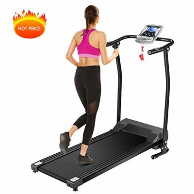 Mauccau Folding Electric Treadmill Exercise Machine with LCD Display Fitness Trainer Walking Running Machine for Home Gym (Black)