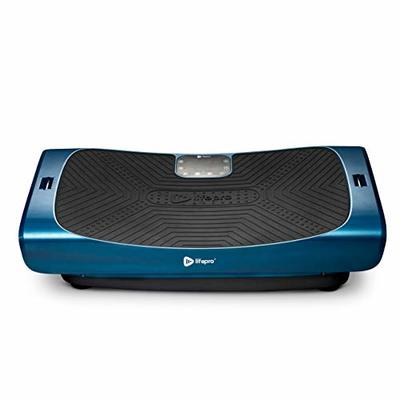LifePro Rumblex 4D Pro Vibration Plate – Whole Body Vibration Platform Exercise Machine – Home Workout Equipment for Weight Loss, Toning & Wellness – Full Bundle of Bands, Straps & Accessories (Blue)