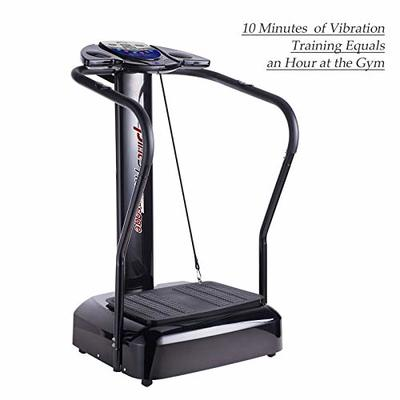 Easy To Operate, Great For Gaining Muscle, Slim Full Body Vibration Platform Crazy Fit Massage Massager Fitness Machine Compact Size LED Display Durable & Portable Anti-slip Surface 2000W