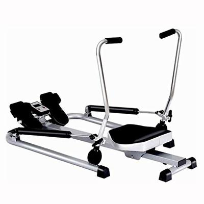 Ltrotted Double Hydraulic Rowing Machine, Adjustable Resistance Rower with LCD Monitor, Cardio Machine for Full Body Exercise, Workout Equipment for Home Gym, 220 lb Weight Capacity 42.5 x 33 x 8 Inch
