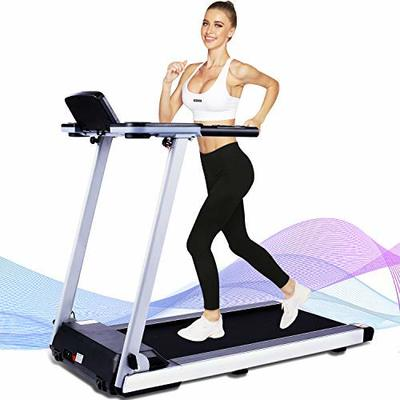 fannay Treadmills for Home Use, Folding Electric Compact Under Desk Treadmill for Women Men, Heavy Duty Steel Frame Walking Running Motorized Exercise Machine for Small Spaces, Easy Assembly (siliver)