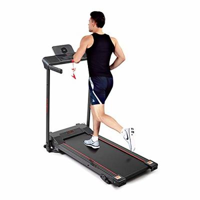 JAXPETY Electric Folding Treadmill 600W Fitness Motorized Running Jogging Machine Perfect for Home/Office Use with LED Display, Phone and Drink Holder, 12 Preset Programs, Black