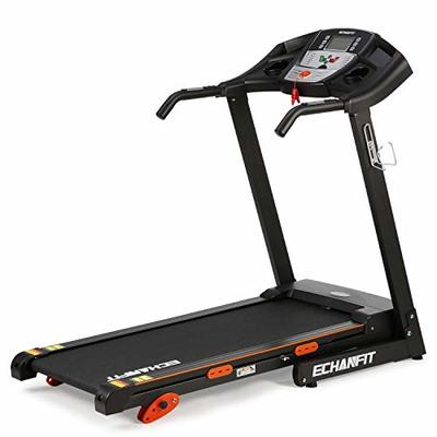 "ECHANFIT Folding Treadmill Home Electric Motorized Running Machine with 17""Wide Tread Belt LCD Display 15 Preset Programs 8.5 MPH Max Speed and Cup Holder Easy Assembly"