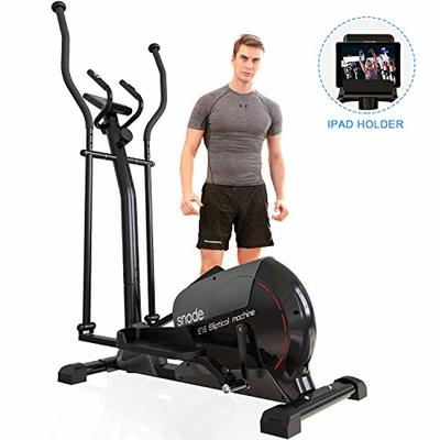 SNODE Magnetic Elliptical Machine – Heavy Duty Exercise Equipment for Home Use Cardio Training Workout, Sturdy Training Trainer with LCD Digital Display, Programmable Monitor, Smooth and Quiet Driven