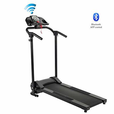 ZELUS Folding Treadmill for Home Gym, Portable Wheels, 750W Electric Foldable Running Cardio Machine with Cup Holder, Sports App Walking/Runners Exercise Equipment