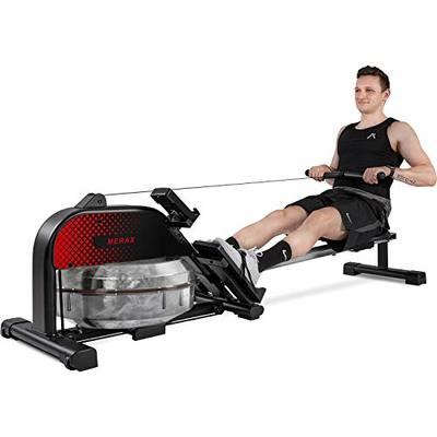 Merax Rowing Machine Rower with Magenetic Resistance LCD Monitor 340 LBS Max Weight Cardio Fitness Equipment for Home Use (Black)
