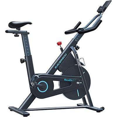 HouseFit Indoor Cycling Stationary Exercise Bike – Cycle Bike with Magnetic Resistance, Quiet Belt Drive and LCD Monitor & Comfortable Seat Cushion
