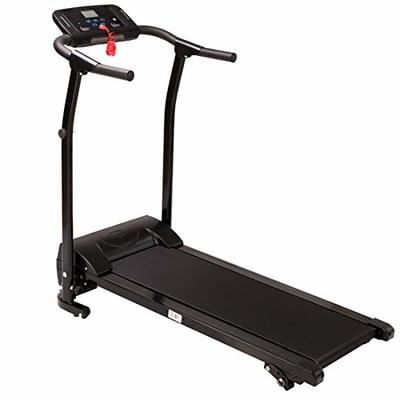Freeby Electric Folding Treadmill Home Fitness Equipment Professional Multi-Functional LED Display with Blue-Tooth Speaker Treadmill, Shipped from The US (Silver, 112×132×35cm/44×52×13.8in)